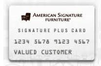 American Signature Furniture Credit Card login