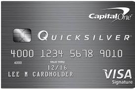 Capital One Quicksilver Credit Card Login