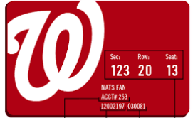 Washington Nationals Cash Rewards