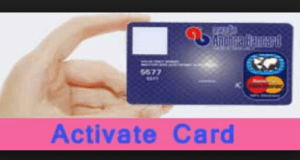 Activate a Credit Card
